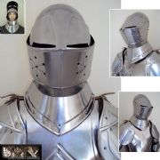 15th Century English Bascinet Helmet - 18 Gauge